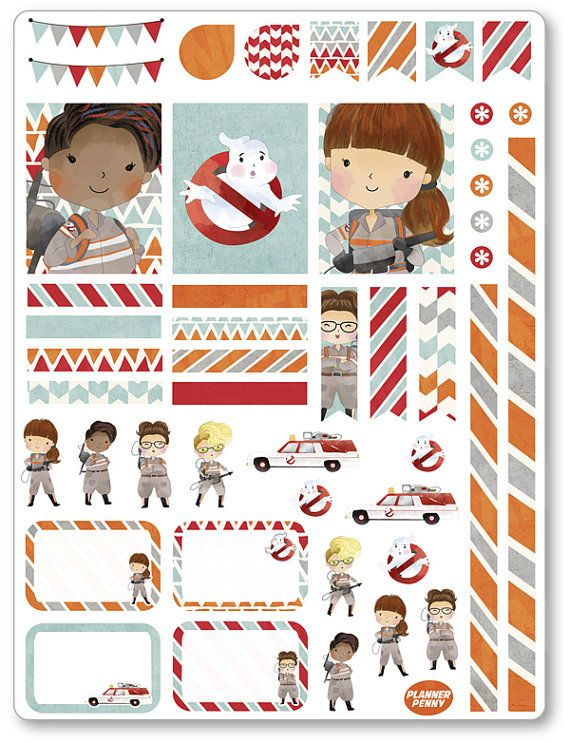 Ghost Fighters Decorating Kit / Weekly Spread Planner Stickers for Erin Condren…