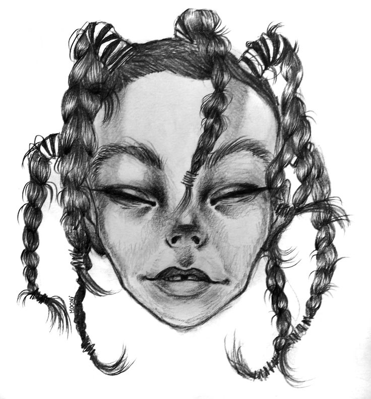 Portrait Bjork graphite #bjork