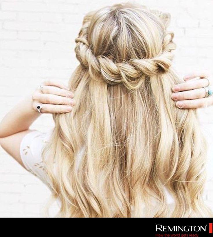 Una corona de cabello siempre será una buena idea para lucir lindísima y darle un toque súper femenino a tu look.