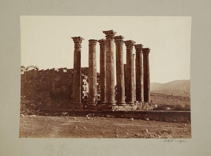 Jordan, Gerasa, Columns of Temple of Sun, 1901