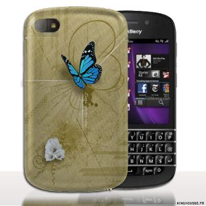 Coque BlackBerry Q10 | Design Papillon Corine | Coque de protection arriere