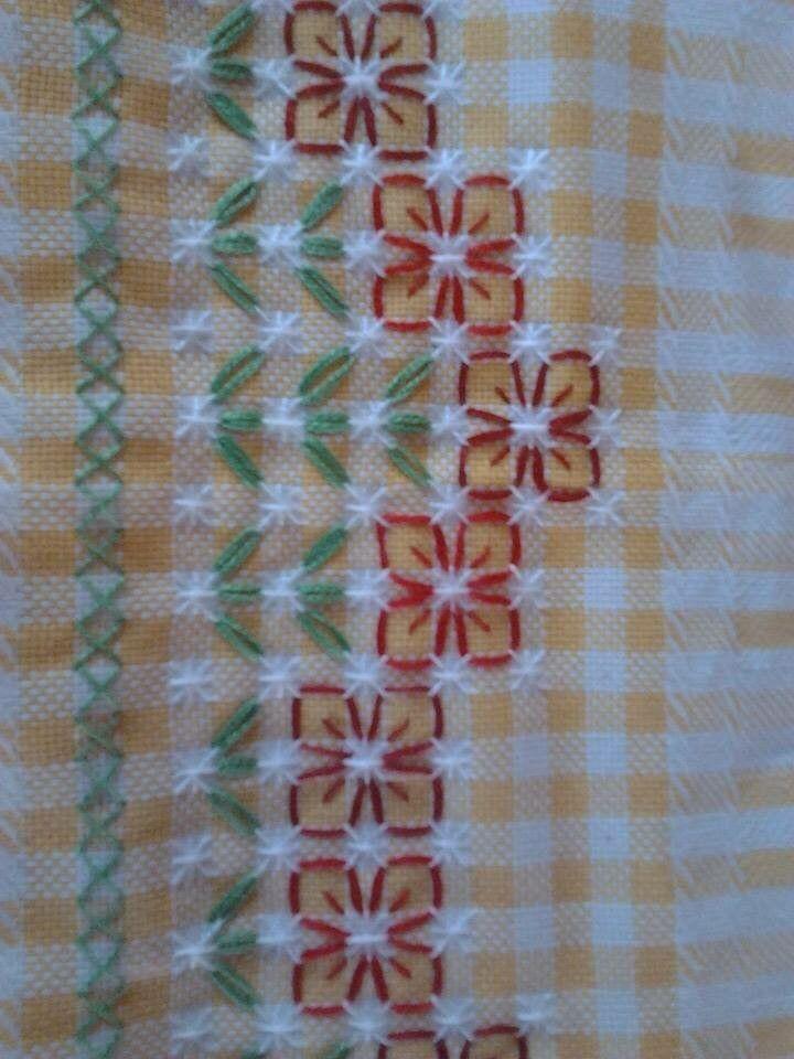 Bordado diferente para tecido xadrez