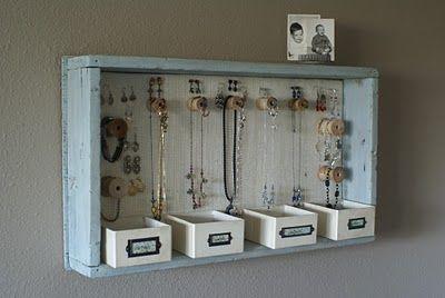 Love this!: Ideas, Craft, Jewelry Storage, Diy'S, Jewelry Display, Diy Jewelry, Jewelry Holder