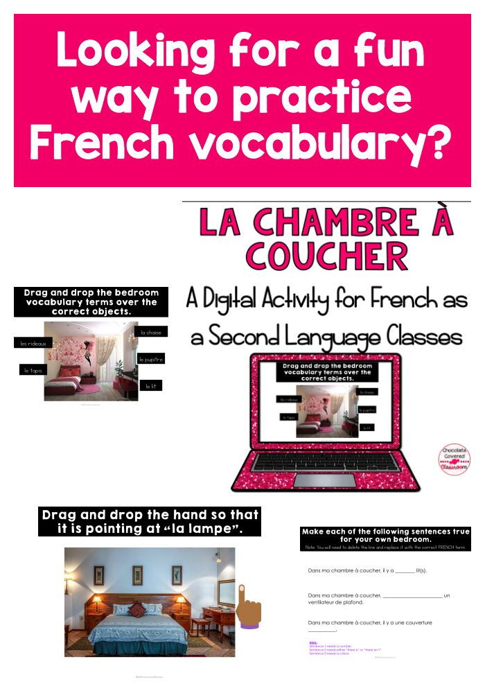 French Bedroom Digital Interactive Activities Distance Learning