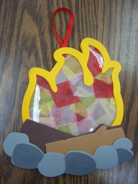 campfire craft- found on Story Time Katie (link takes you there) craft kit from Oriental Trading no longer available. but you could make your own with craft foam