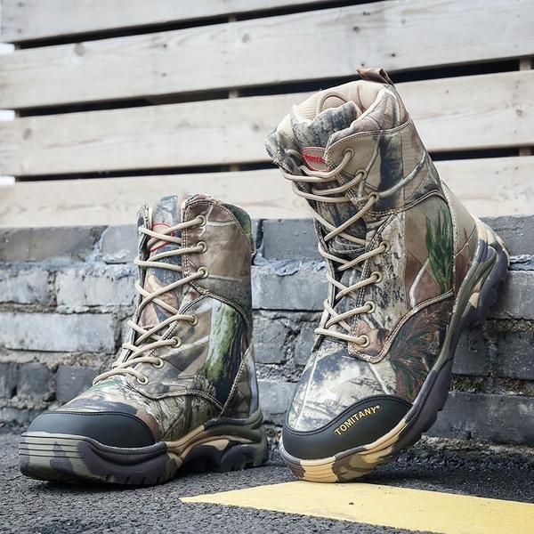 Men Boots Lace Up Man Ankle Boots Waterproof Big Size Hiking Shoes Athletic Shoe