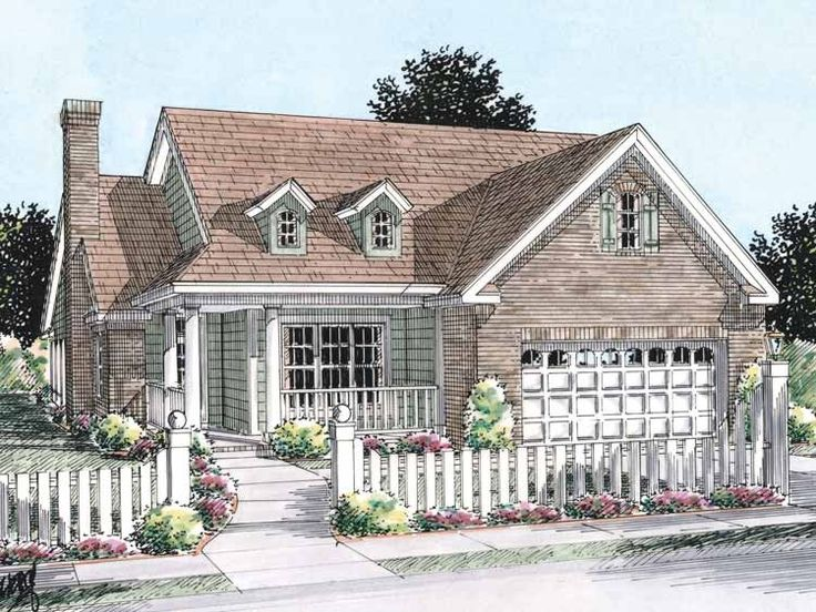 113 best Small House Plans images on Pinterest | Small house plans ...