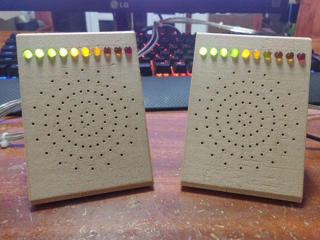 Desktop/Portable Speakers with VU Meter by IamTeknik