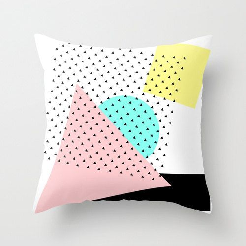 Pillow cover Memphis Milano inspired by rocioolmo on Etsy, €25.00