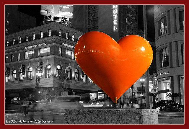 """Happy Valentines Day by darth_ashwin, via Flickr. Original Ginger says """"One of the best things about San Francisco is that it has a creative heart and soul -- music and art."""""""