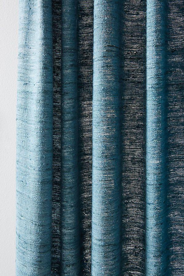 Khadi Silk Curtain by Anthropologie in Purple, Curtains