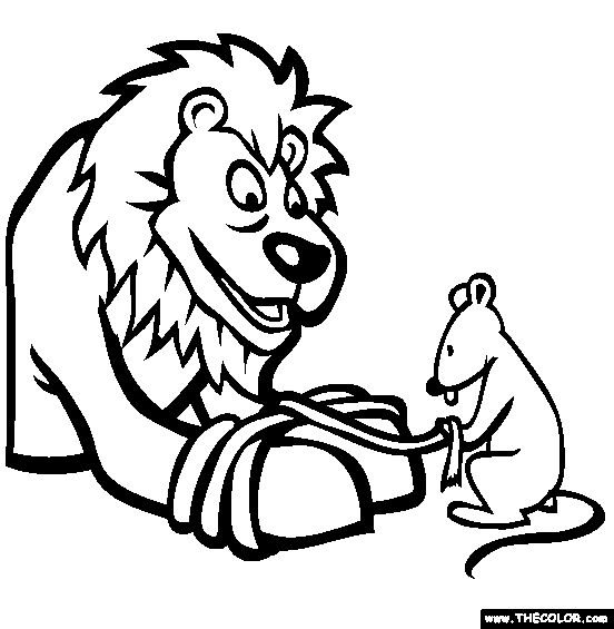 Free Aesops Fables Coloring Pages Color In This Picture Of The Lion And Mouse Others With Our Library Online