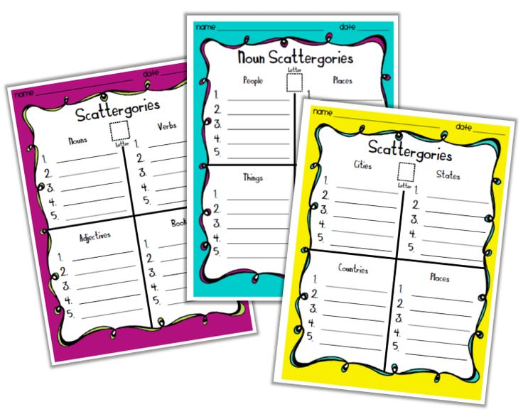 FREE - ❤ Scattergories: Creative Word Work Game for Kids ❤ 50+ pages, 3 Skill Levels and ink friendly options. Click here to download now!!!