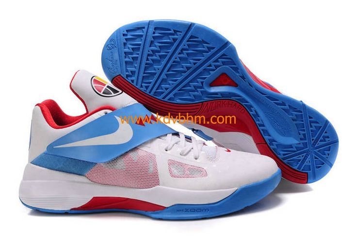 KD IV N7 Home White Dark Turquoise Challenge Red Kevin Durant Sneakers 2012  Cheap