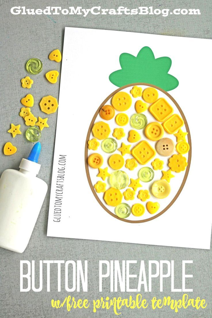 Button Pineapple Kid Craft Montessori Aktiviteleri Pinterest