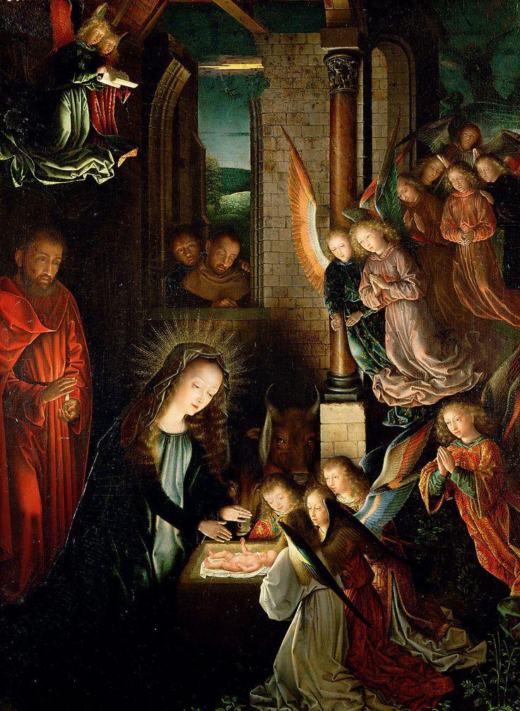 Nativity of Jesus Christ / Natividad del Señor Jesús / Geburt Christi // circa 1495 // Gerard David // Kunsthistorisches Museum, Vienna // #Christmas #Navidad #Noël #Natale