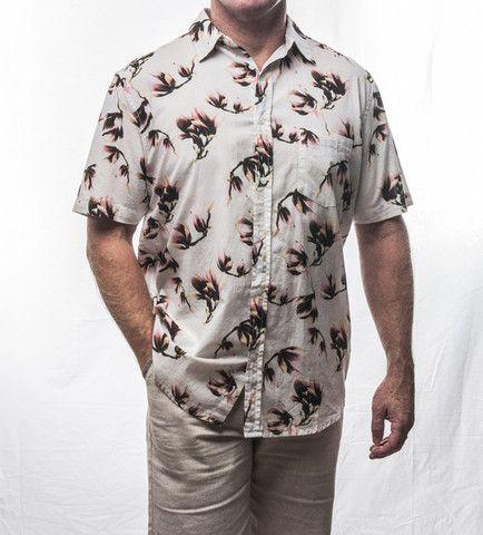 Pattern Short Sleeve Cotton Shirt