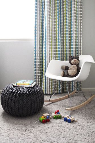 This chair is the perfect fit for a modern nursery or toddler room.