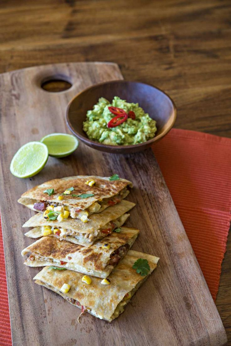 Chicken Quesadillas with Charred Corn and Smashed Avocado - Cooking with Tenina