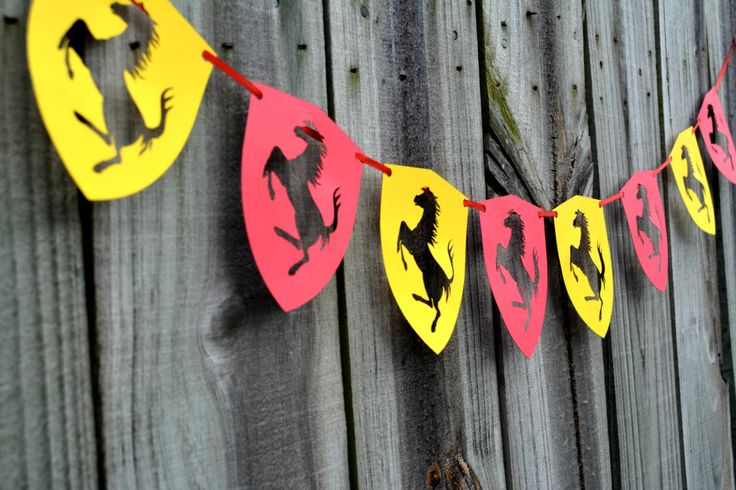 Ferrari Banner, Ferrari Laser Cut Banner, Ferrari Birthday Banner, Party Banner, Cars Banner by NishsCreations on Etsy
