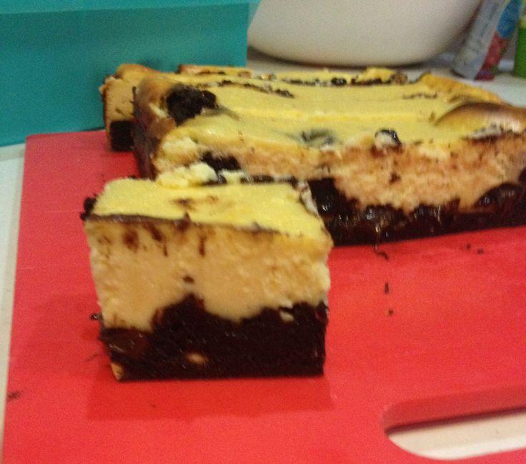 Baked cheesecake brownie!