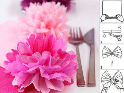 Pompons selber machen - Tischdeko zur Hochzeit 6