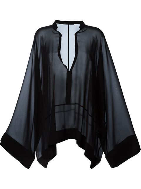 Shop Haider Ackermann wide sleeve sheer top  in Caron from the world's best independent boutiques at farfetch.com. Shop 400 boutiques at one address.