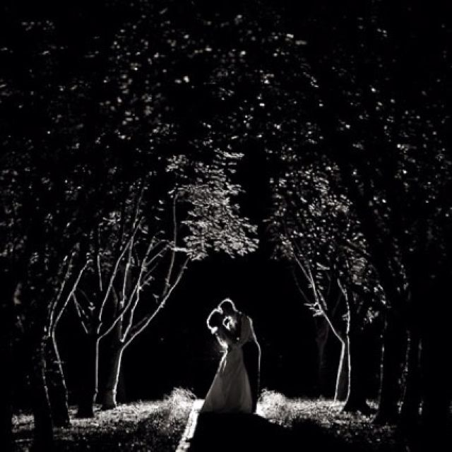 Love this night wedding shot <3