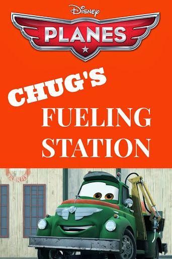 Disney Planes Party Ideas: Chug's Fueling Station Sign - Free #Printable #DisneyPlanes