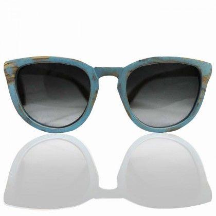 Wooden Sunglasses Marjo, με γκρι ντεγκραντέ φακό.