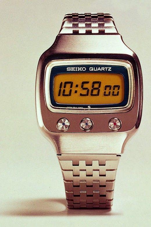 Die genialen Vorgänger der Apple Watch. Zum Beispiel: Die erste LCD-Quartzuhr der Welt von Seiko.Den Artikel dazu gibt es bei ICON http://www.welt.de/icon/article132416716/Die-genialen-Vorgaenger-der-Apple-Watch.html