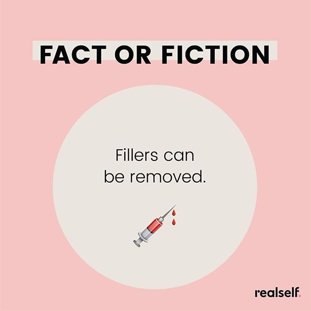Answer: Fact  Hyaluronic acid fillers can be safely dissolved with injections of hyaluronidase an injectable enzyme solution that speeds up their natural breakdown.  Schedule a complimentary consultation with our Expect Injector Nurse Lisa to discuss your options. #expertinjector #medspa #cosmeticnurse #botoxnurse #aestheticnurse #botox #lipfillers #facialfillers #plasticsurgery