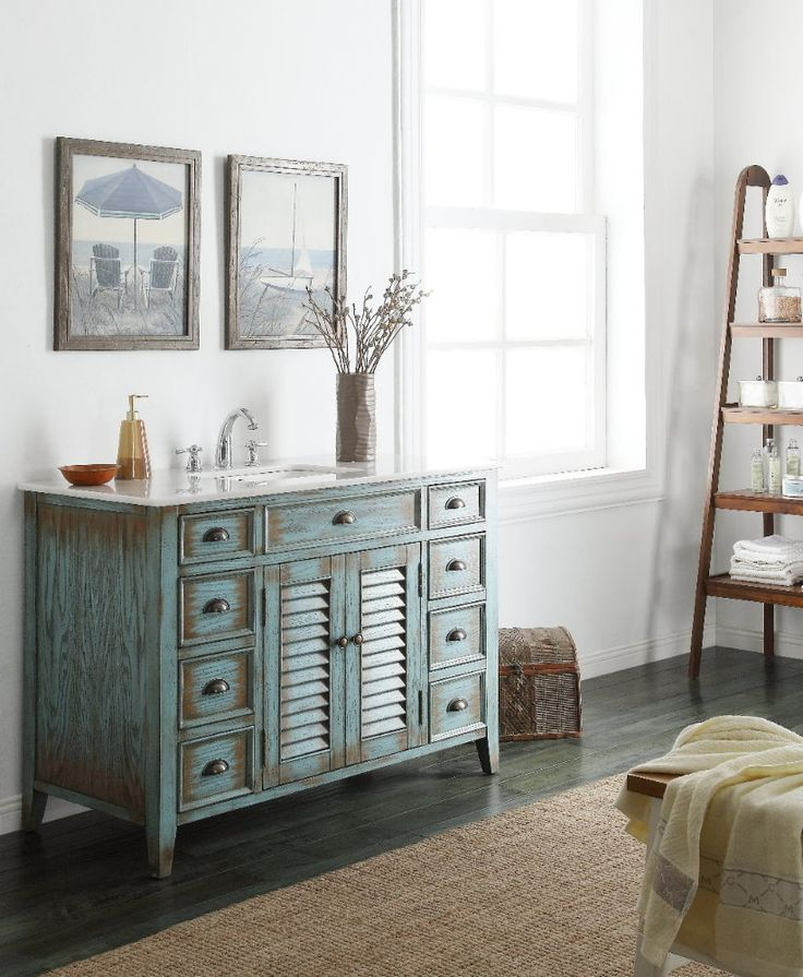 46 Benton Collection Distressed blue Abbeville Bathroom