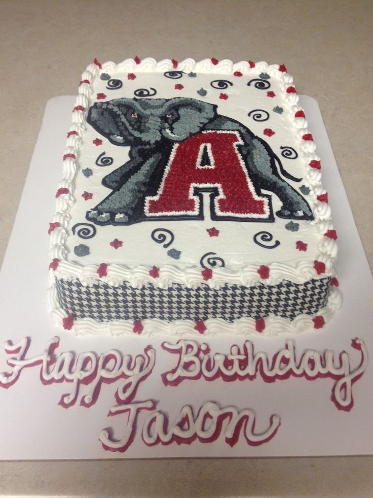Alabama birthday cake for Jason