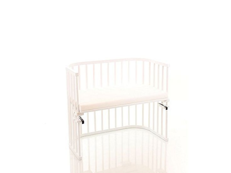NSAuk Maxi Babybay with Coconut Bamboo Mattress - White