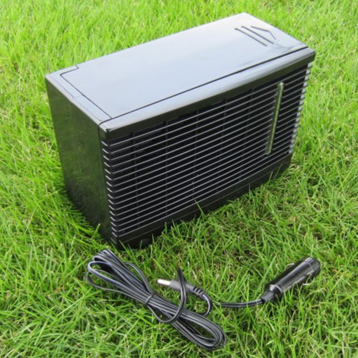 12V Car Air Conditioner 35W Black Portable Mini Cooler