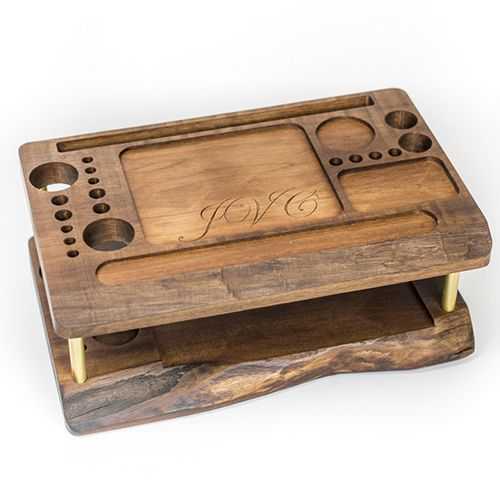 Krasen Dom Wooden Makeup Organizer and Beauty Station