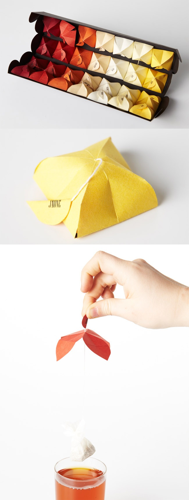 Origami Tea Packaging /  Maria Milagros Rodriguez Bouroncle: Tea Packaging, Helicopters Teas, Bags Carrier, Milagros Rodriguez, Origami Teas, Beautiful Origami, Teas Packaging, Teas Bags, Teas Coffee Salad Pl