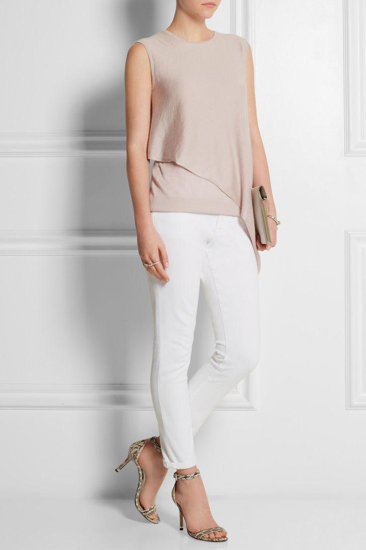 Derek Lam | Asymmetric cashmere and silk-blend top