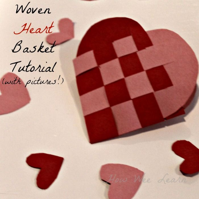 Woven Heart Basket Craft : Woven heart basket a simple tutorial crafts and
