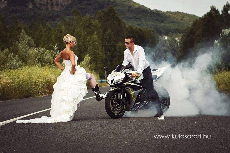 Nice Wedding Pic I Think! :D #wedding #motorcycle #motorbike | Photo Poses  | Pinterest | Motorbikes, Nice And Weddings
