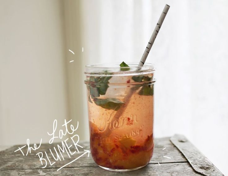 The Late Blumer Cocktail - with raspberries, apricots and basil