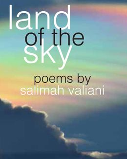 """Land of the Sky"" - poems by Salimah Valiani: Inspired by the Rocky Mountains, Land of the Sky is a means of using detail from a distance to reflect on the socio-politcal and the human that is all around us. The poems in this collection explore the land through the distance of the sky and understand that which seems so grounded as a sky full of metaphor and near-unfathomable reflexes of history. $18.95"