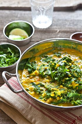 """The Indian word """"dal"""" refers to both lentils and the comforting, soup-like dish made with them. Every Indian child grows up on some version of dal. It is peasant food — cheap, rustic, filling and nourishing. When I want a …"""