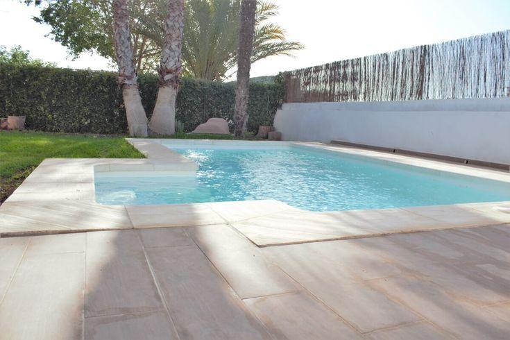 Piscinas Cano ultimo Modelo de piscina ESPARTA novedad 2016 fabricado en Poliester y Fibra de vidrio en Valencia distribuicion internacional