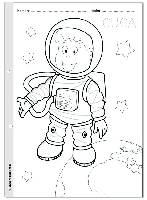 Free printable Astronaut coloring