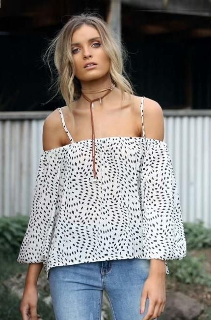 Tasmin Cold Shoulder Top by Lost in Lunar - PRE ORDER (White)