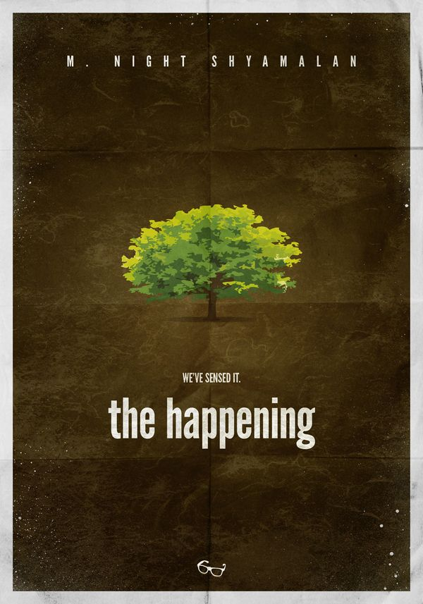 The Happening (2008) ~ Minimal Movie Poster by Sandor Szalay ~ Shyamalan Series #amusementphile