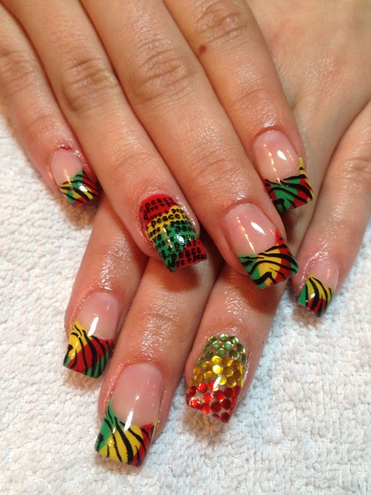 Gel nails if I ever go back to Jamaica. These are the ones!