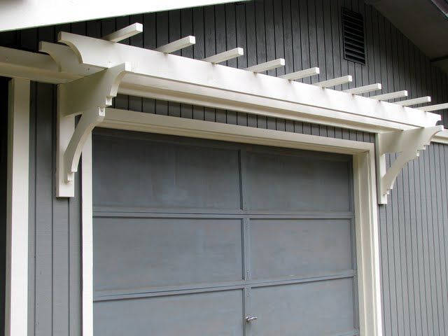Update your garage with a trellis from @Mimi @ BlueRoofCabin.com.